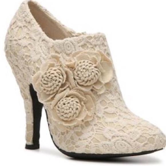 c66cbc0d0ec Dolce by Mojo Moxy Floral Crochet High Heel Bootie